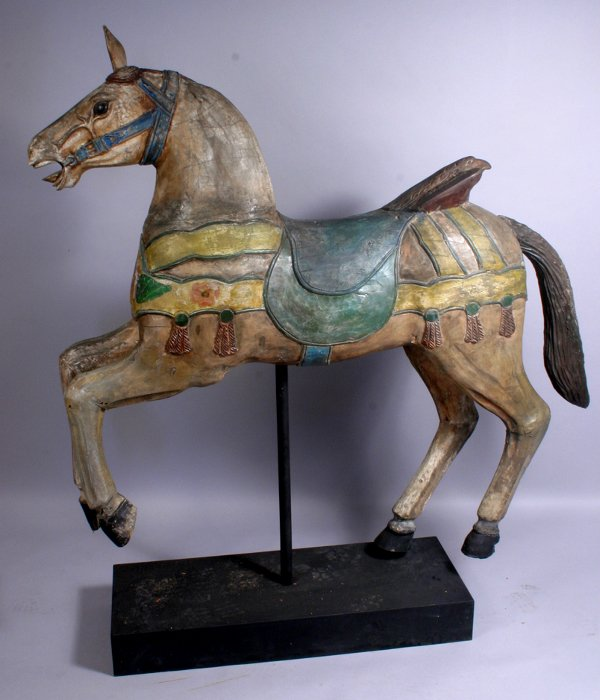 1007: 19TH CENTURY CAROUSEL HORSE ON STAND