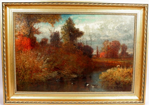 1015A: GEORGE INNIS STYLE OIL OF BROOK AND DUCKS