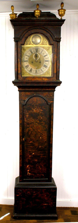 1018A: 18TH CENTURY JAPANNED TALL CLOCK WILLIAM KIPLING