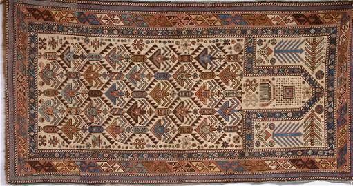 1361: 19TH CENTURY SHIRVAN PRAYER RUG