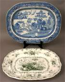1405 FOUR PIECES 19TH C ENGLISH TRANSFERWARE