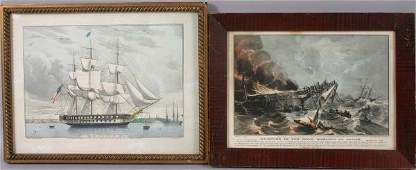 COLLECTION OF SIX VARIOUS CURRIER & IVES PRINTS