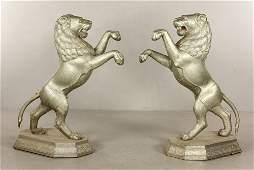 Pr Tin Lion Statues