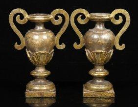 Pr. 18th C. Amphora Candlesticks