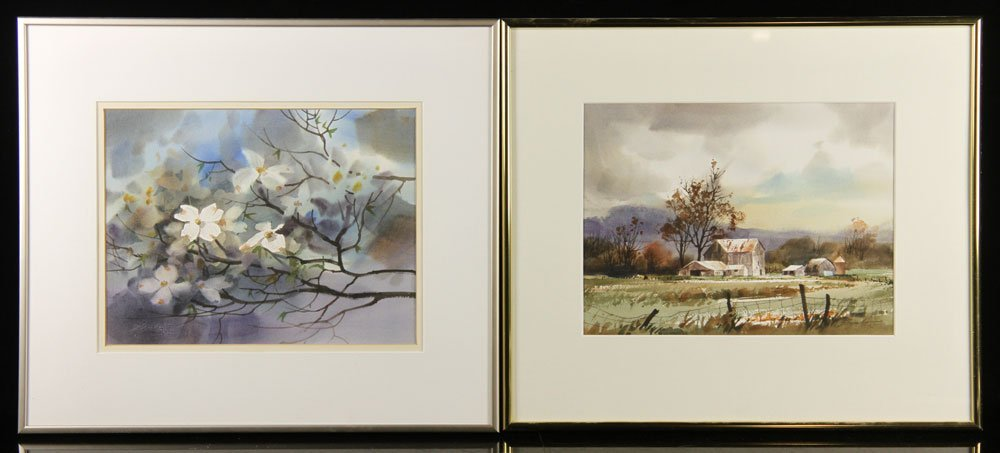 Szabo, Lot of 2 Watercolors