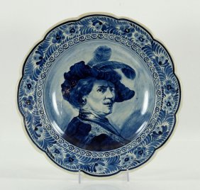 Portrait Of Rembrandt, Delft Charger