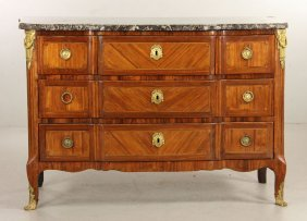 18th C. Louis Xvi Marble Top Commode