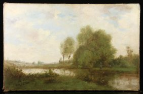 After Corot, Barbican Figure In Landscape, Oil/canvas