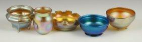 Lot Of 5 Tiffany Salts And Bowls