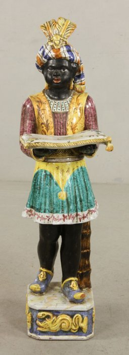 Italian Blackamoor Terracotta Figure