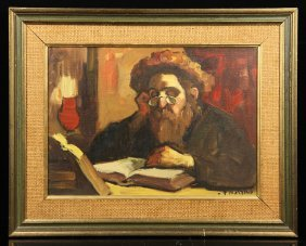 Adler, Portrait Of A Rabbi, Oil On Canvas