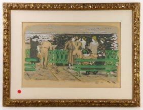 """Brianchon, """"la Mare Aux Corneilles,"""" Print"""
