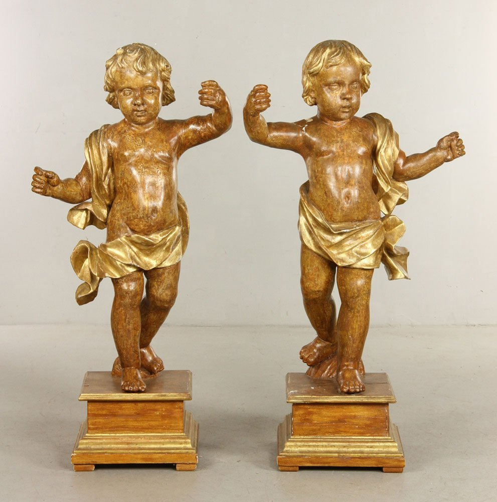 Pr. 19th C. Italian Carved Putti