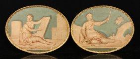De Salvo, 2 Classical Figures, Oil On Canvas