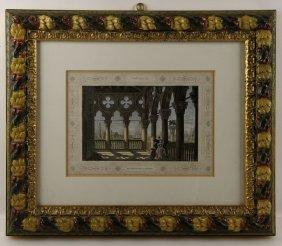 """""""venezia: Galleria Del Palazzo Ducale,"""" Colored Print"""