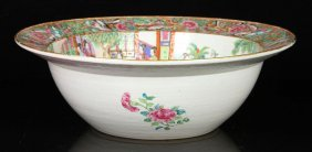Large Chinese Rose Medallion Bowl