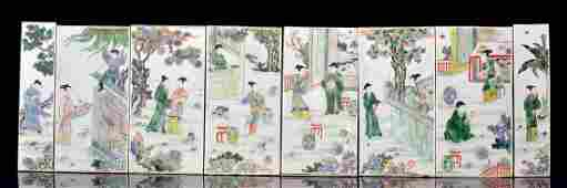 Set of Famille Verte Plaques