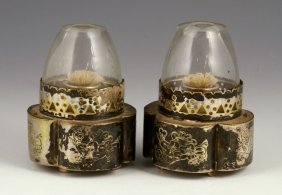 Two Chinese Export Silver Lamps