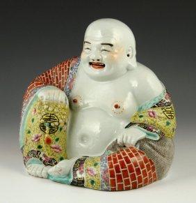 Chinese Famille Rose Porcelain Budai Buddha