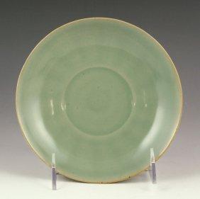 Chinese Green Celadon Porcelain Dish
