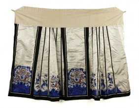 Chinese Late Qing Dynasty Ladies' Skirt