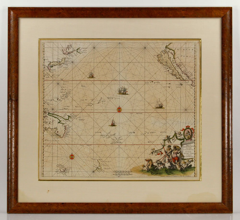 Engraved Hand-Colored Map of Pacific