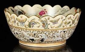 Monumental Japanese Satsuma Bowl