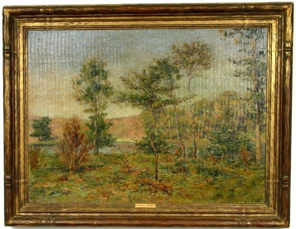 1020: SIGNED GUSTAVE LOISEAU, LANDSCAPE, O/C, 1905