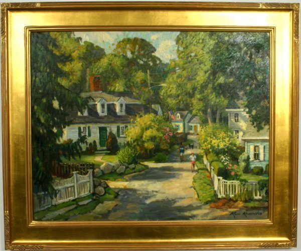 1032: SIGNED KEN KNOWLES, SUMMER IN ANNISQUAM O/C