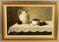 1106: SGND P. PLANCHET 'PLUMS AND BLUEBERRIES' O/C