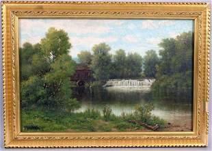 1328: JOHN ALEXANDER HARRISON NOBLE,WATERFALL,O/B