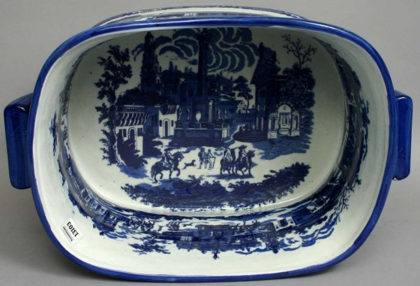1464: 20TH C. BLUE AND WHITE IRONSTONE FOOTBATH - 2