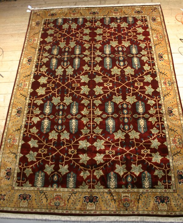 1036: JAIPUR RUG IN THE 18TH CENTURY STYLE, 10' x 14'.