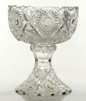 Cut Glass Punch Bowl