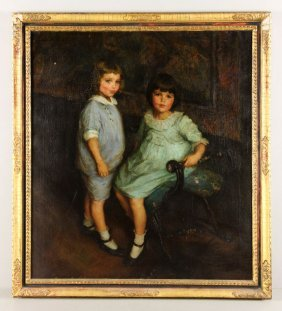 Emmet, Portrait Of Thomas And Susan Towles, Oil