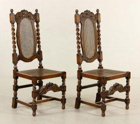 Pr. 19th C. English Manor Chairs