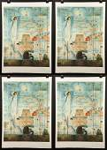 """Group of Four Dali """"A Discovery of America"""" Lithographs"""
