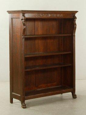 English Carved Oak Bookcase