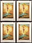 "Group of Four Dali ""Golden Fleece"" Lithographs"