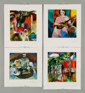Hpary, 4 Small Scenes, Watercolor