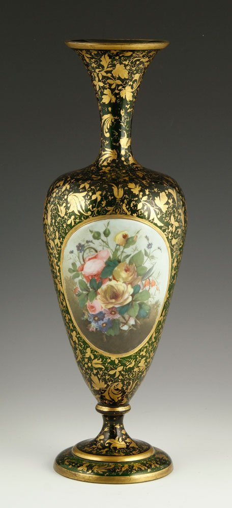 19th C. Bohemian Glass Vase