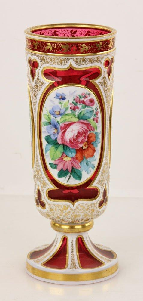 19th C. Bohemian Cameo Glass Vase