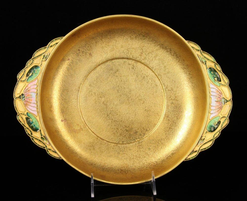Tiffany Furnaces Inc. Gilt Bronze Center Bowl