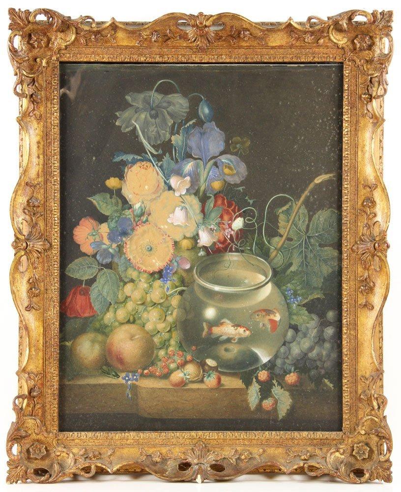 Roesen, Still Life, Pastel Watercolor
