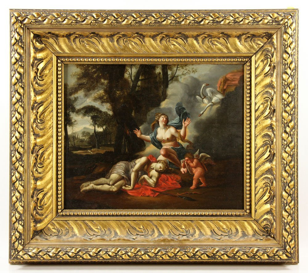 17th-18th C.  Death of Adonis Painting