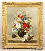 Cauchois, Floral Still Life, Oil on Canvas