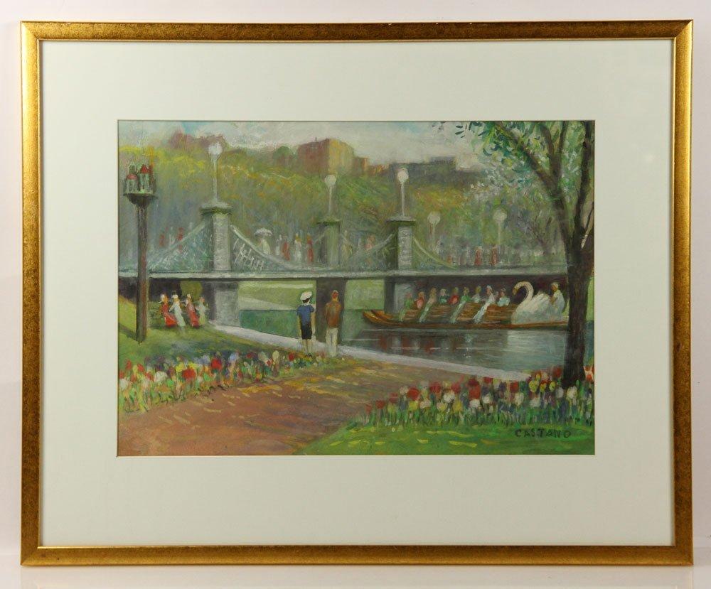 Castano, Boston Public Garden, Watercolor