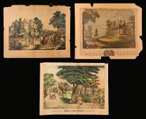 Three 19th C Colored Lithographs