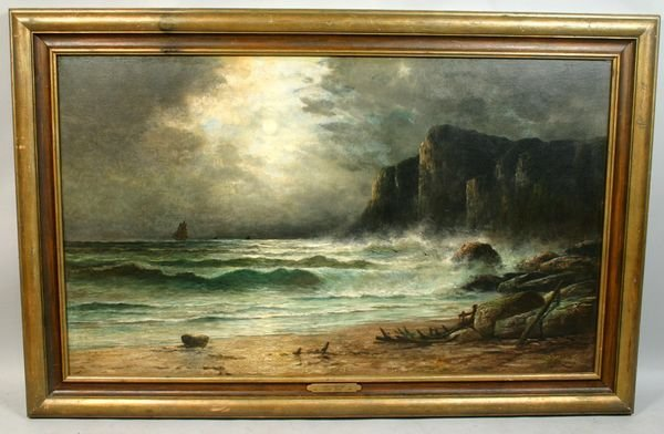 12: SIGNED HENRY A. DUESSEL, 'AUTUMN TIDES', O/C