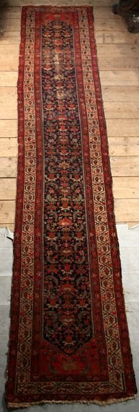 "1010: ANTIQUE PERSIAN RUNNER, 16' 3"" X 3' 2"""